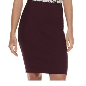 NWT never worn plum pencil skirt